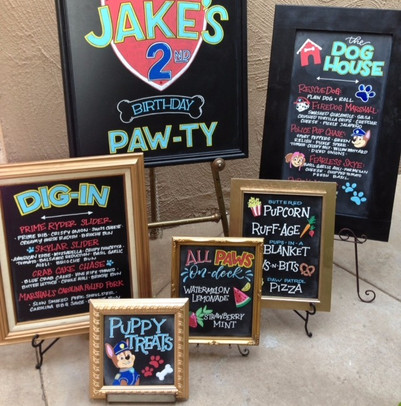 Colorful Chalkboard signs