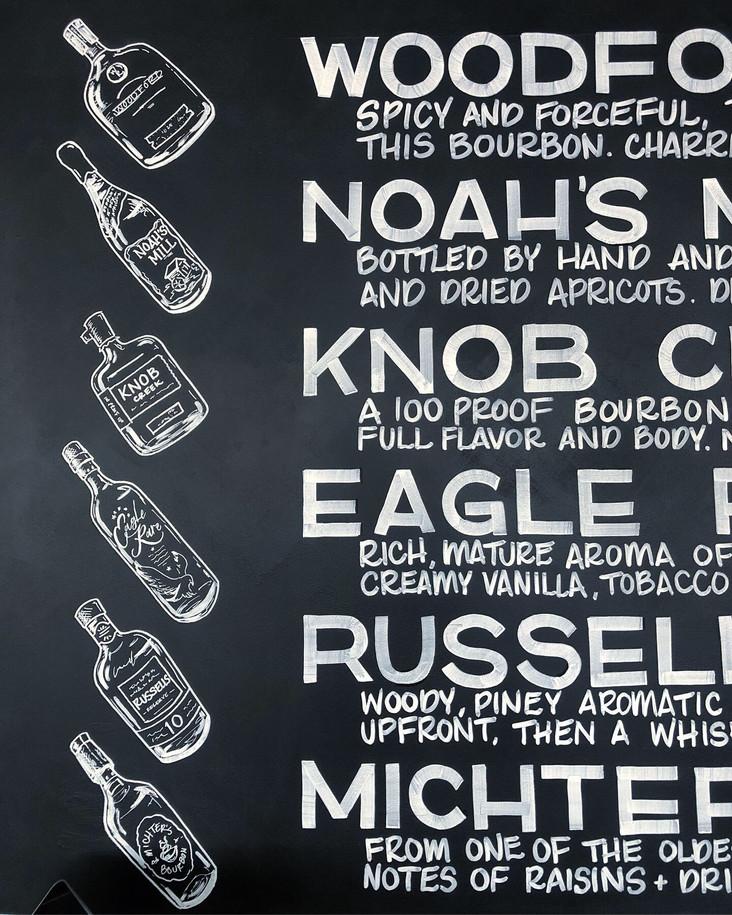 Chalkboard steakhouse menu