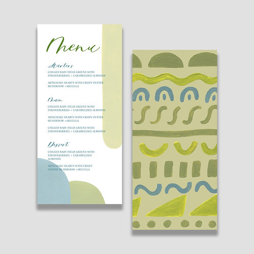 Earthy Abstract Menu