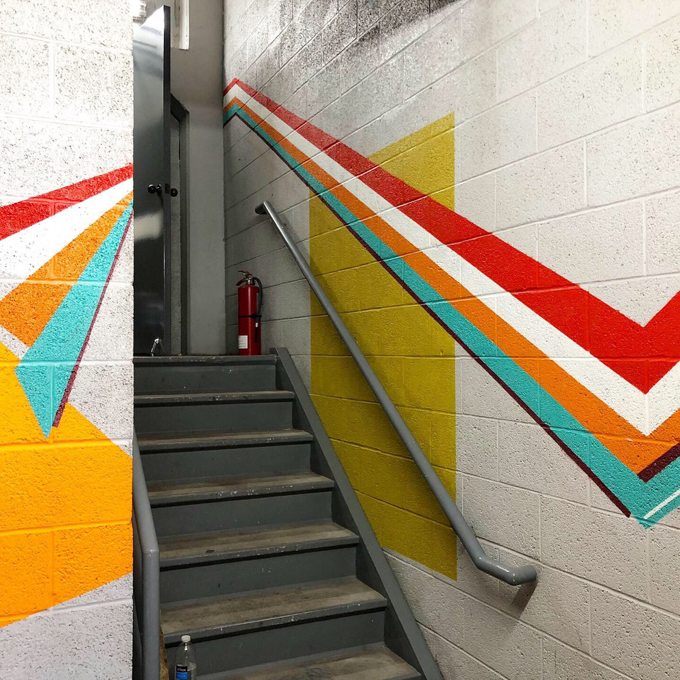 Parking garage mural