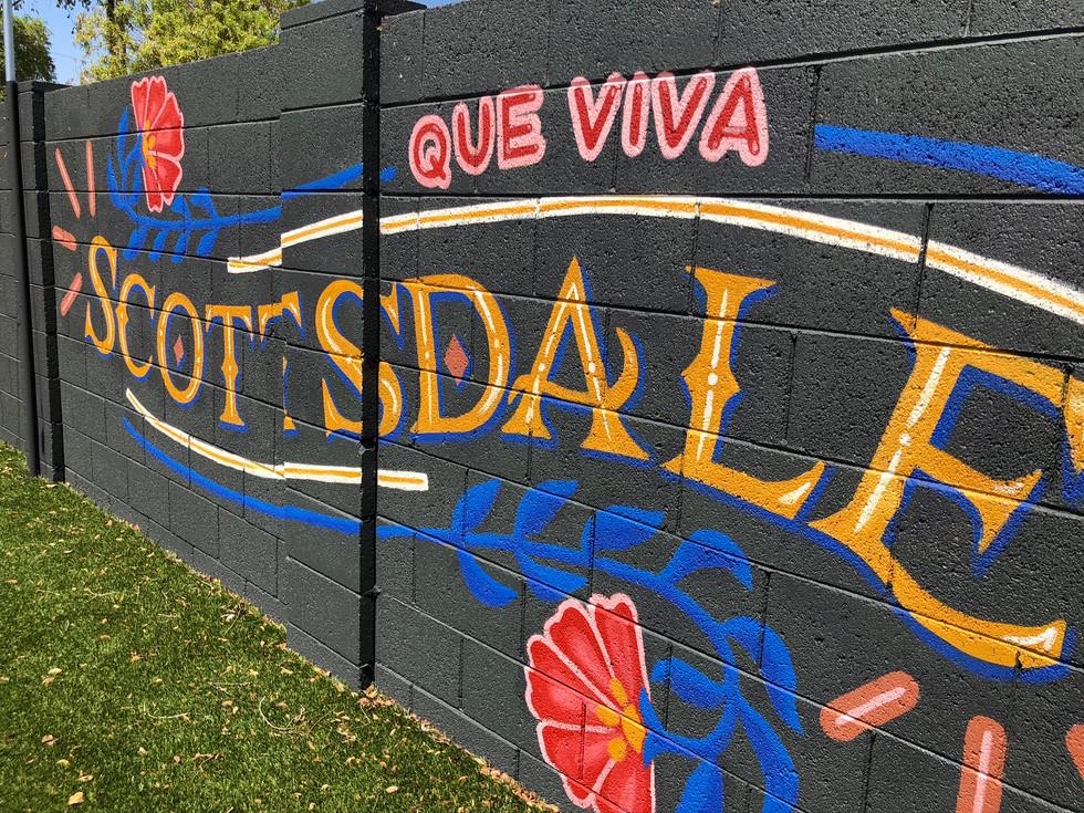 Que Viva Scottsdale Backyard Mural