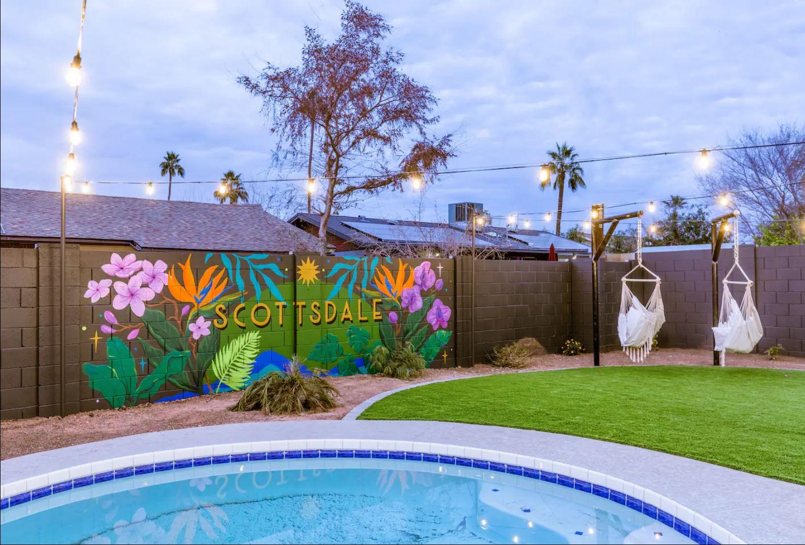 Tropical Oasis airbn mural
