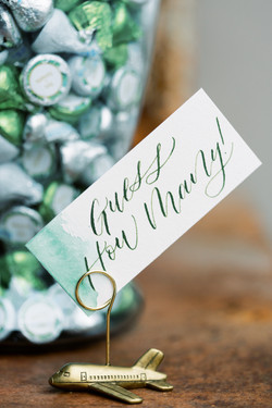 Dipped watercolor calligraphy labels