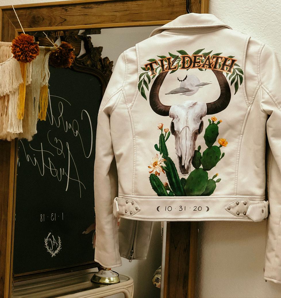 Desert Skull Painted Jacket
