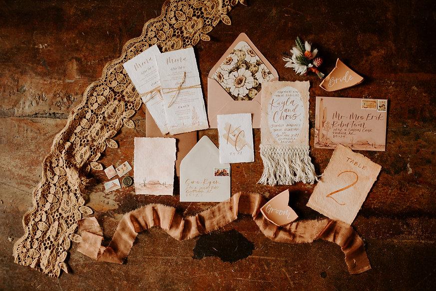 wedding elopement invitation set