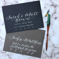 Modern Calligraphy Envelopes