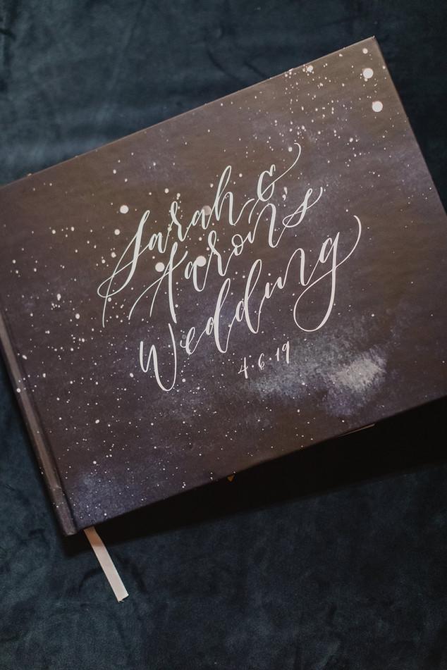 Custom Painted Wedding Guest Book