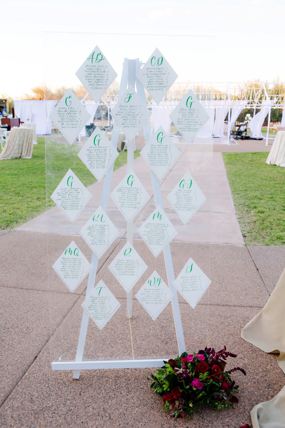 Geometric Wedding seating chart