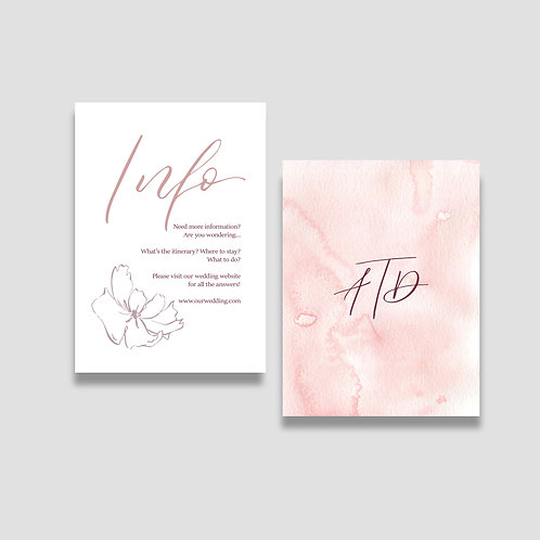 Dusty Rose Details Card