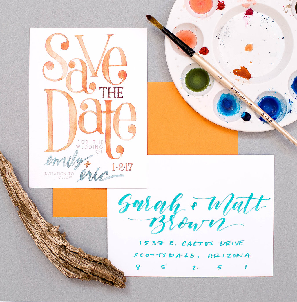 Watercolor Save the Dates