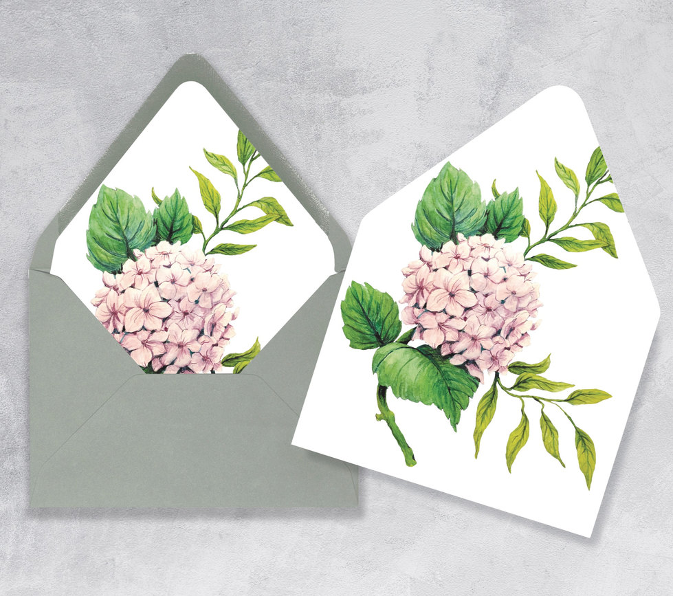 Hydrangea Envelope Liner