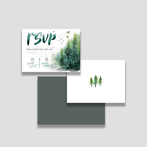 Woodland RSVP + Envelope