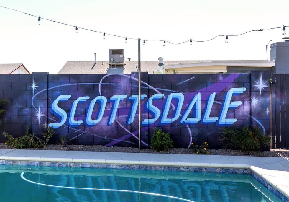 Galaxy Backyard Mural