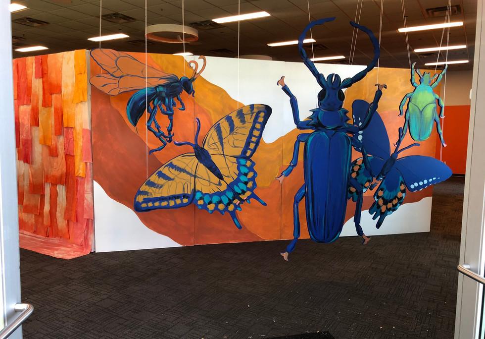 Floating Bugs Window Installation Art