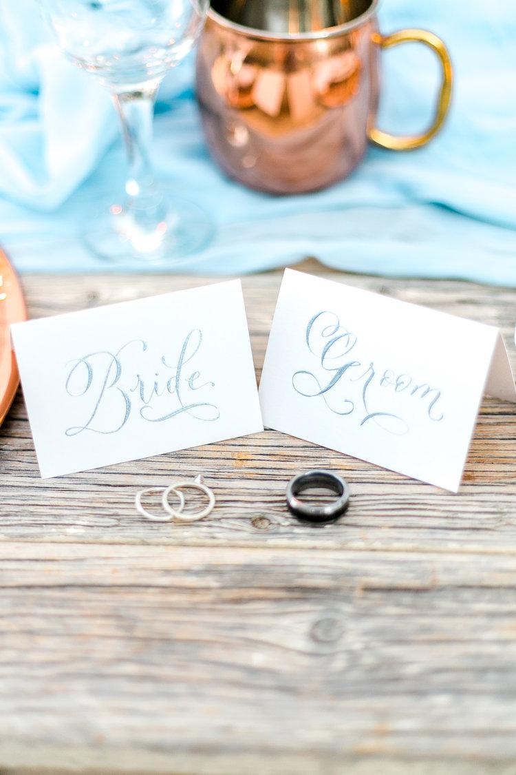 Dainty silver wedding rings
