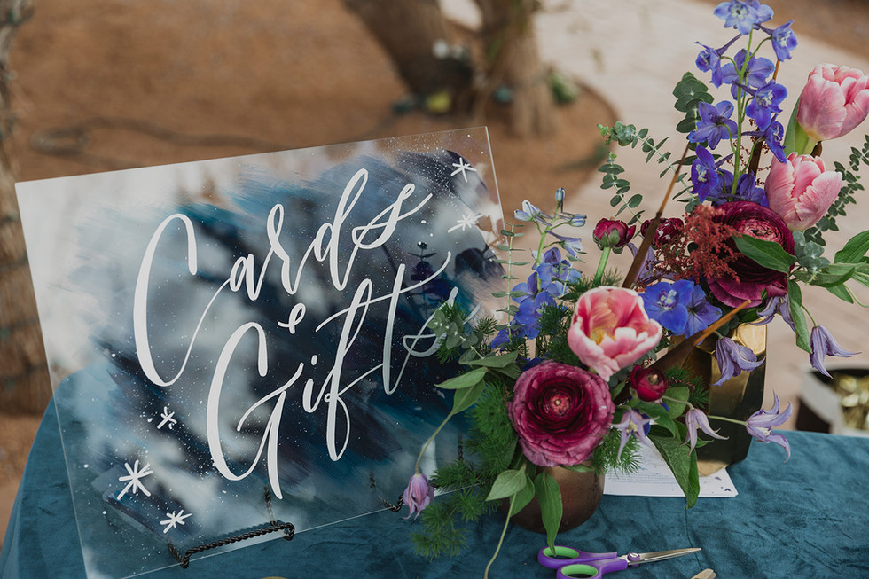 """""""Cards + Gifts"""" Wedding Sign"""