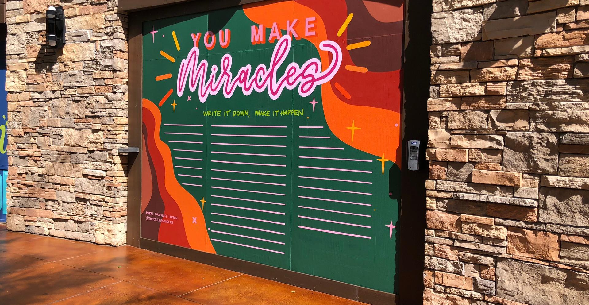 Desert Ridge Marketplace Interactive Chalkboard Mural