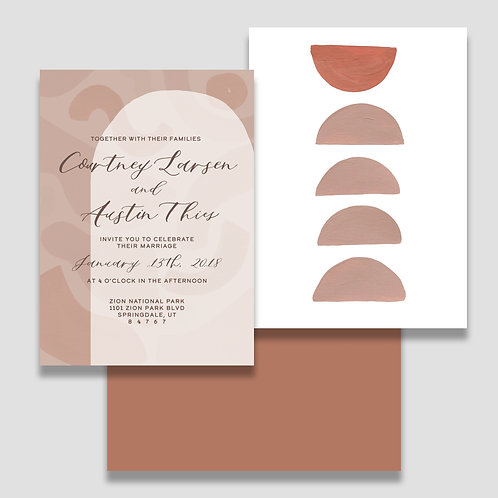 Modern Terrazzo Invite + Envelope