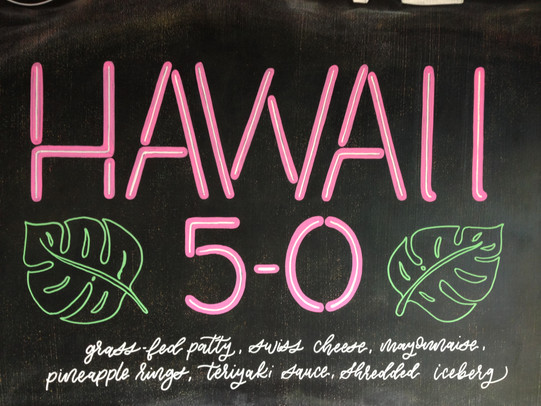 Colorful Chalkboard sign