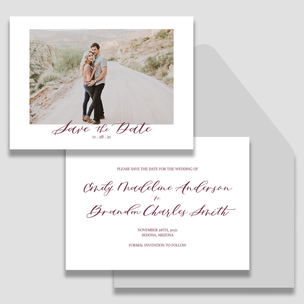 Watercolor Save the Dates alone- photo f