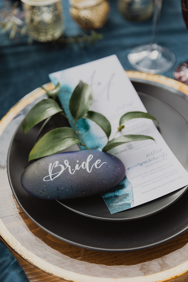 Bride Painted Rock Place Cards