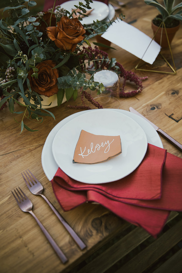 Terracotta Place Cards