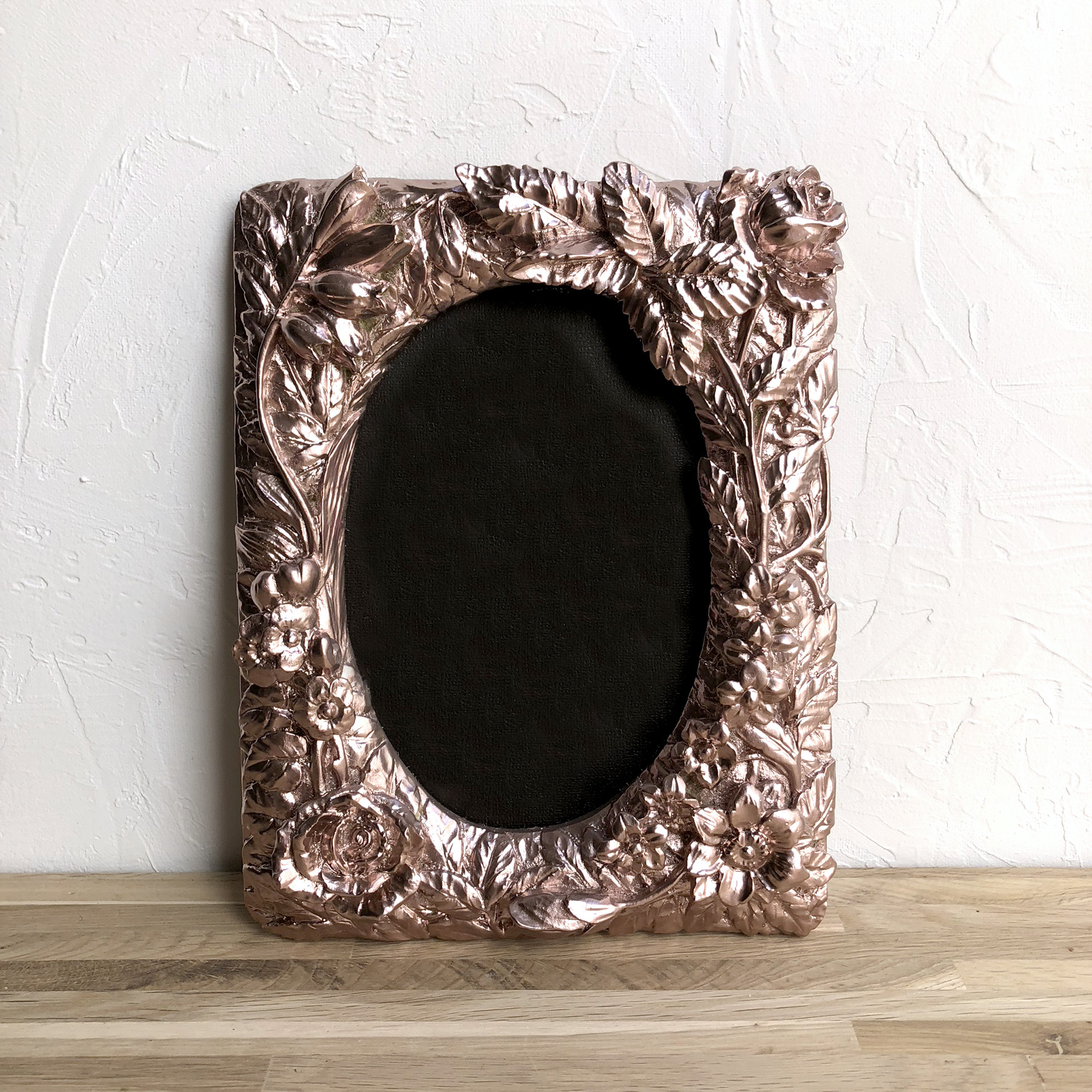 Rose Gold Floral Frame XS