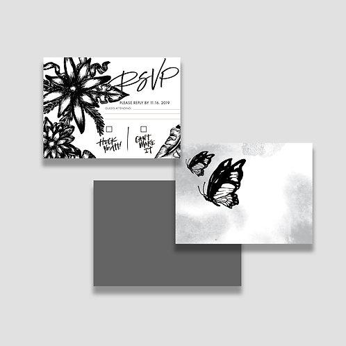 Black Desert RSVP + Envelope