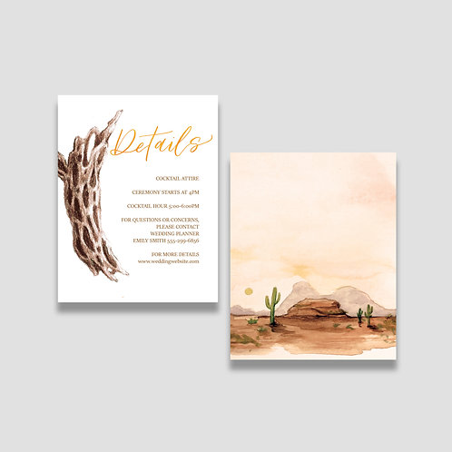 Warm Desert Details Card