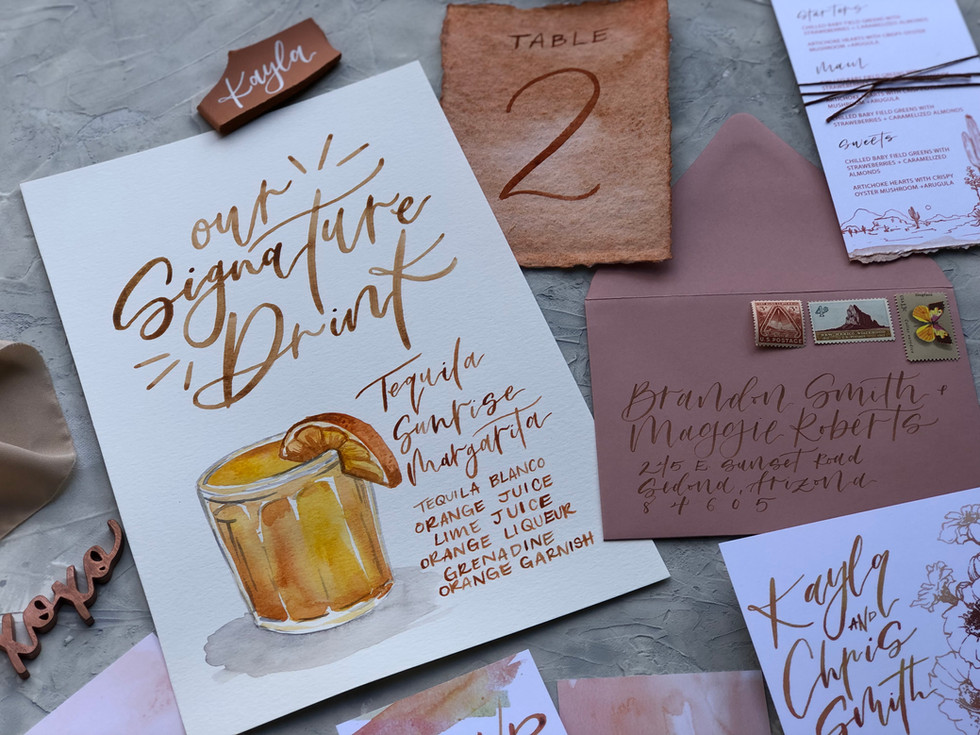 """Our Signature Drinks"" - Wedding Menu"