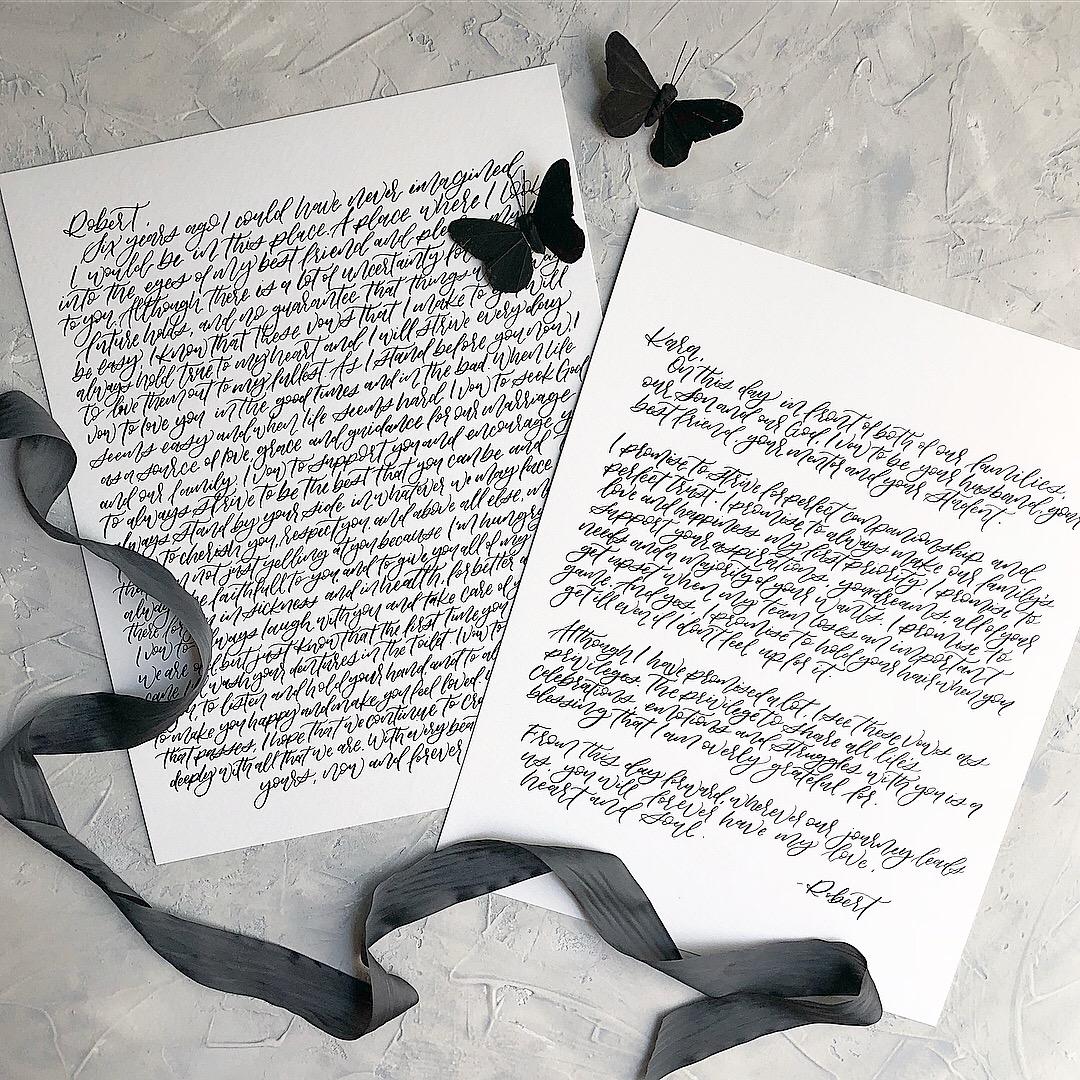 Calligraphy vow set
