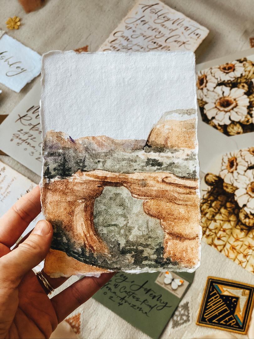 Sedona Devils Bridge watercolor