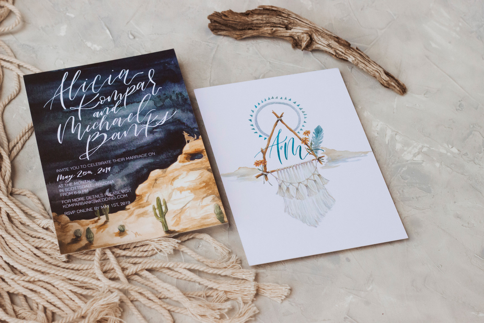 Desert Save the Date Card