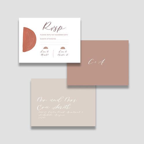Modern Terrazzo RSVP + Envelope