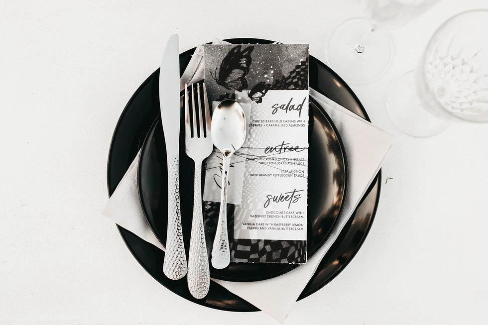 Op Art Desert Wedding Suite menu