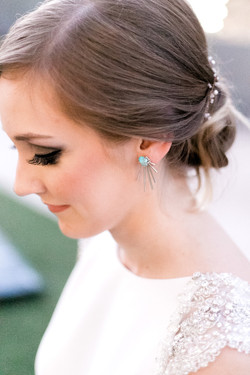 Turquoise Sunburst Earrings