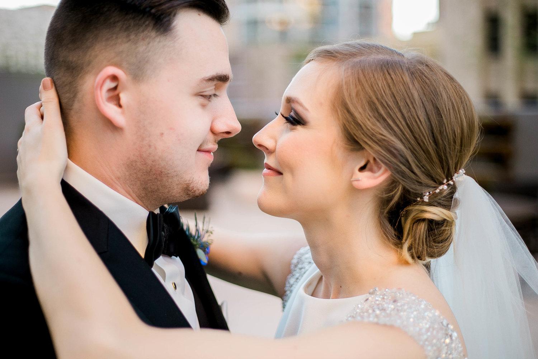 Dainty gold wedding hair accessory