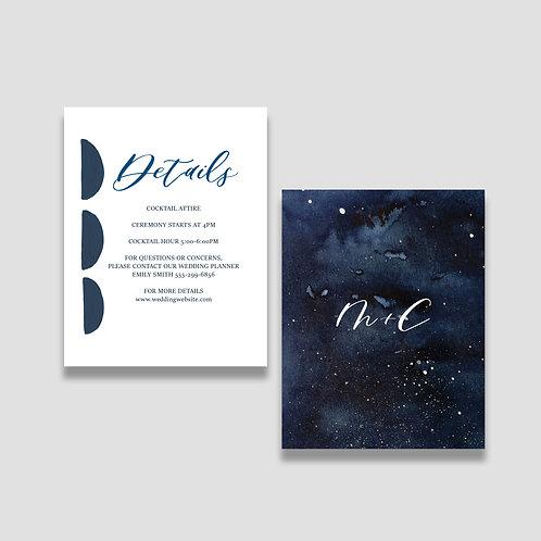 Modern Celestial Details Card