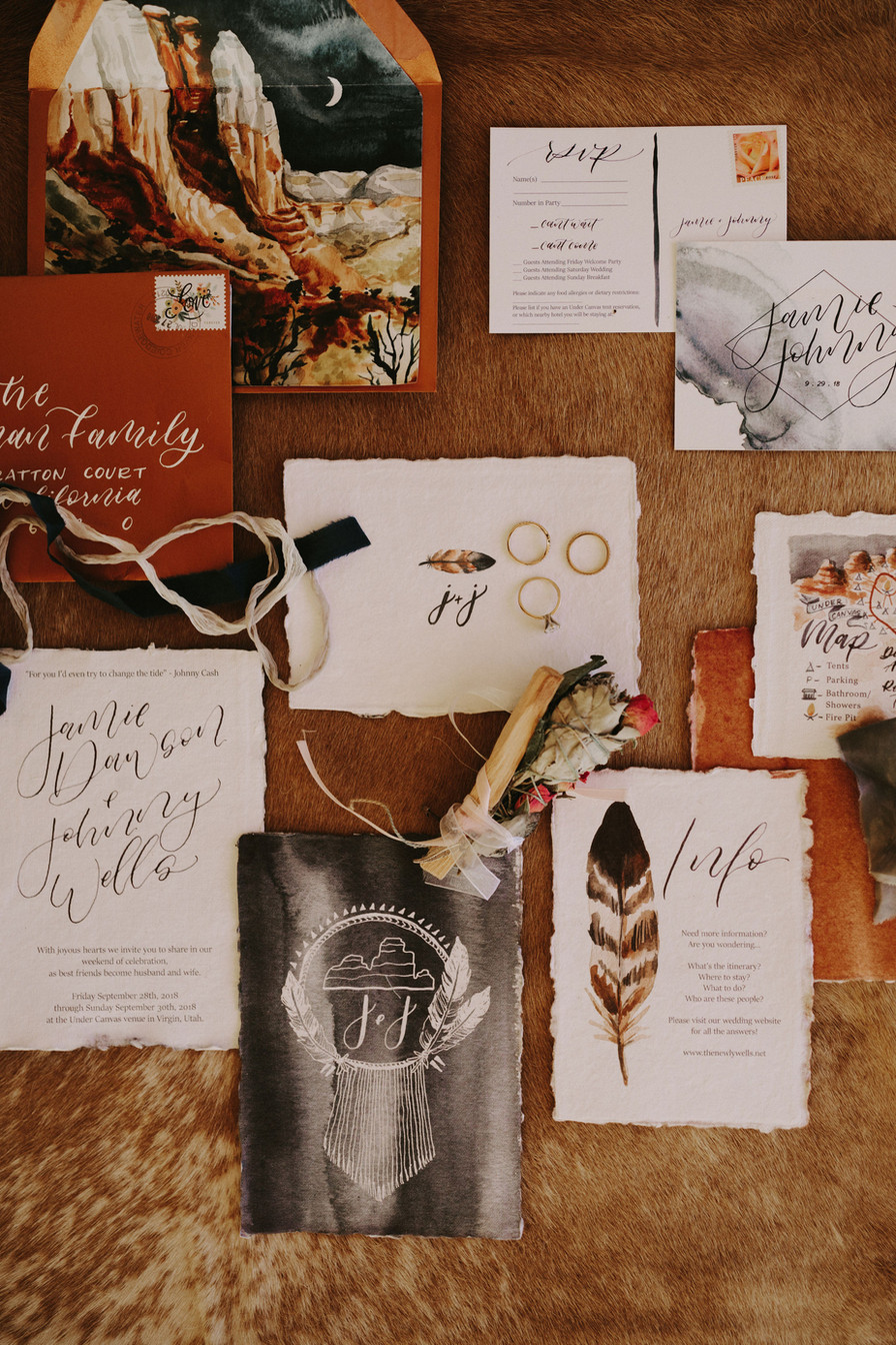 Wedding Invitation and Stationary Set