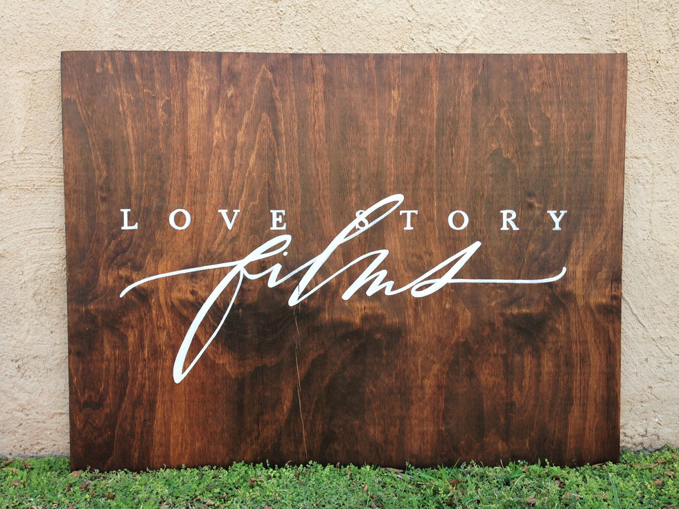 Wood Sign with logo