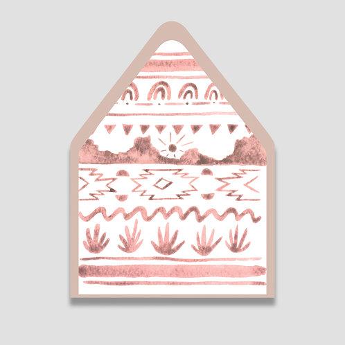 Pink Desert Envelope Liner