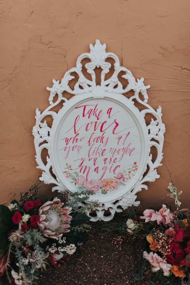 Custom Painted Wedding Sign