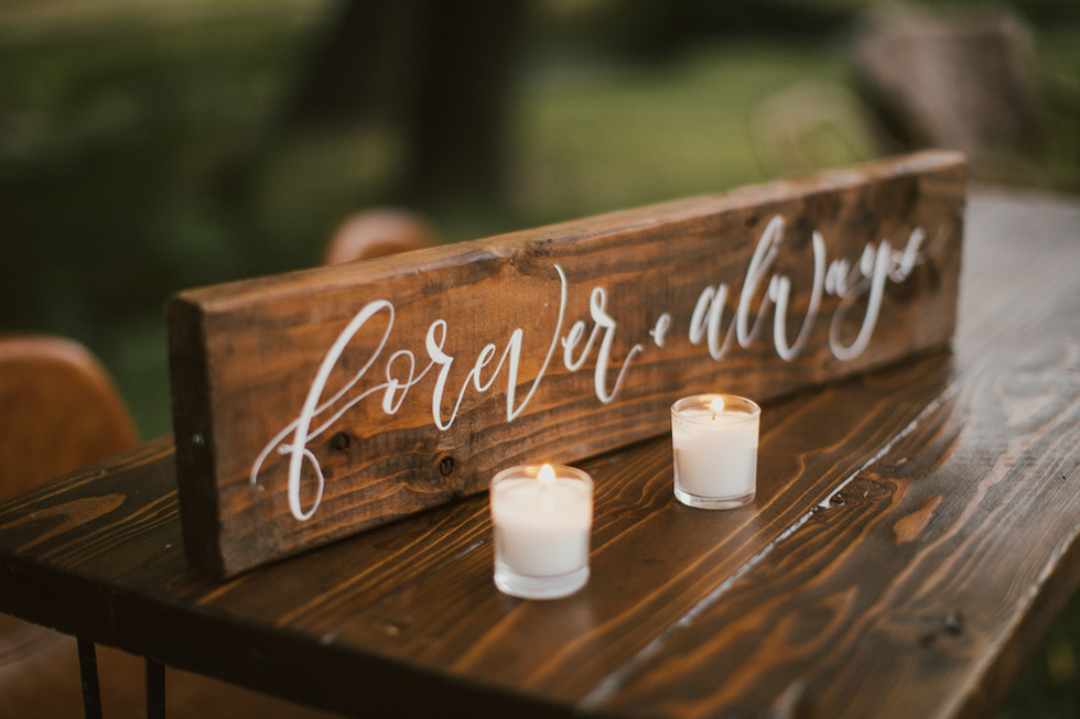 """""""forever and always"""" - Wedding Sign"""