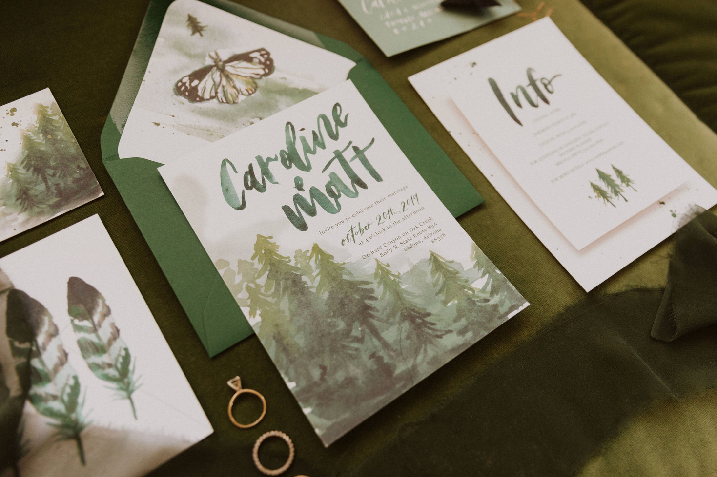 Forest Green Wedding suite