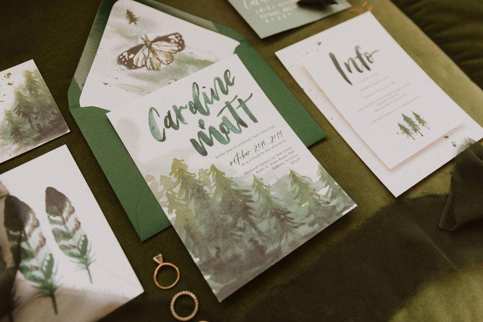 Forest Green Wedding suite