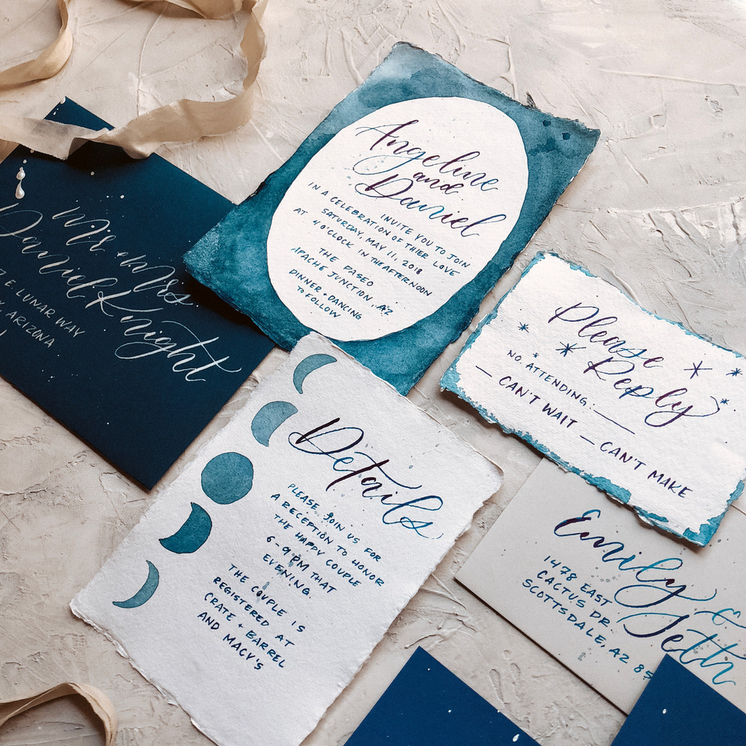 Celestial Wedding Invitation Suite
