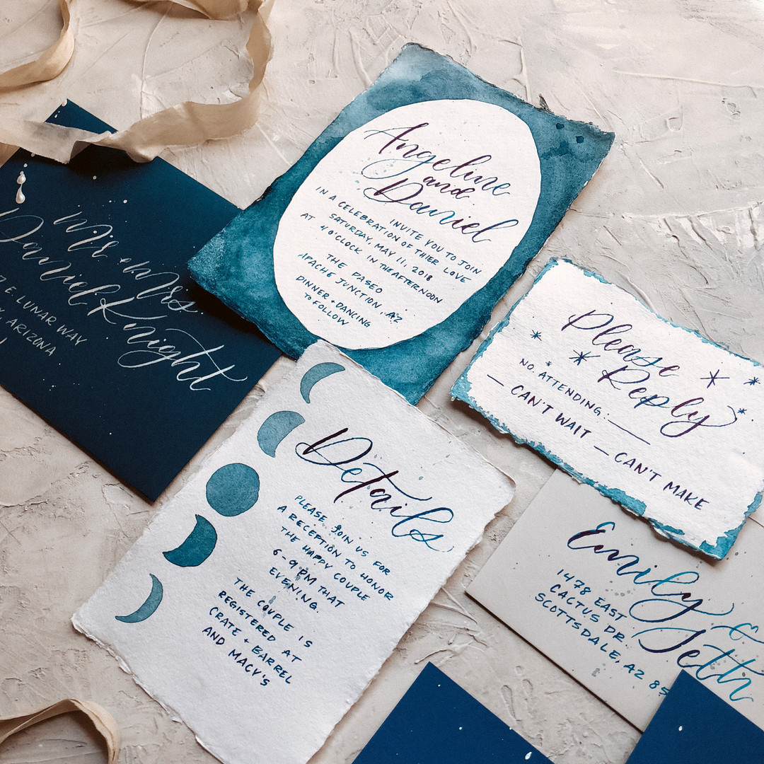 Celestial Wedding Stationary