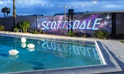 Scottsdale Galaxy Backyard Mural - Pools