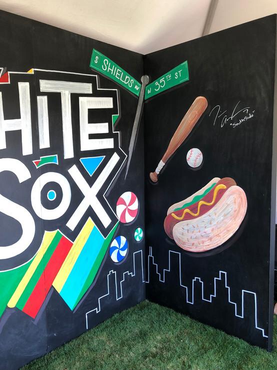 White Sox chalkboard mural
