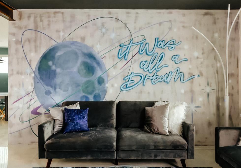 """It Was All A Dream"" Interior Mural"